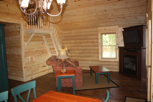 Maine Cabins for Rent – Living Room
